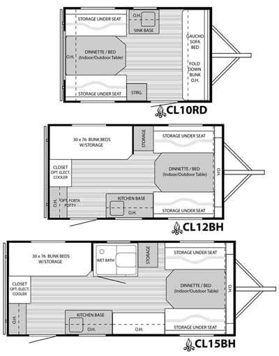 small rv floor plans clite travel trailer floorplans small picture click