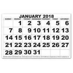 Calendar 2018 Large Print Maxiaids Low Vision Print Calendar 2018