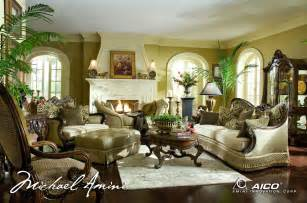 Luxury Chairs For Living Room Michael Amini Chateau Beauvais Luxury Traditional Formal Living Room Furniture Set By Aico