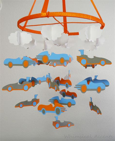 Car Crib Mobile by Cars And Clouds Decorative Nursery Baby Mobile On Luulla