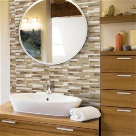 stick on mirror tiles bathroom smart tiles milano sasso 11 55 in w x 9 65 in h peel and
