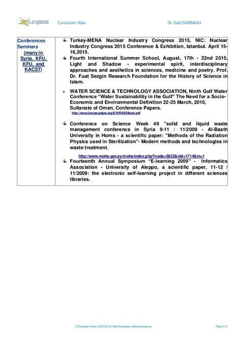 curriculum vitae europass 2016 cv europass said sabbagh 1 2016