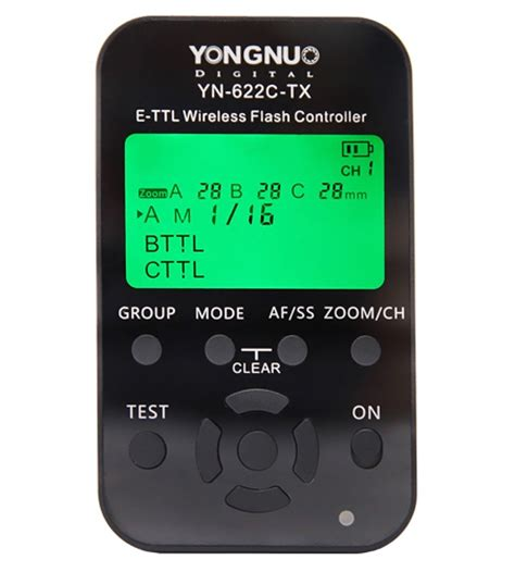 yongnuo yn 622c tx for canon now available flash havoc