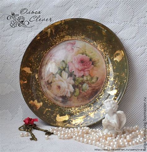 Decoupage Plate - 1000 ideas about decoupage plates on