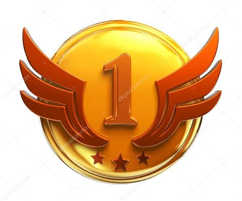 place gold medal award number one stock photo