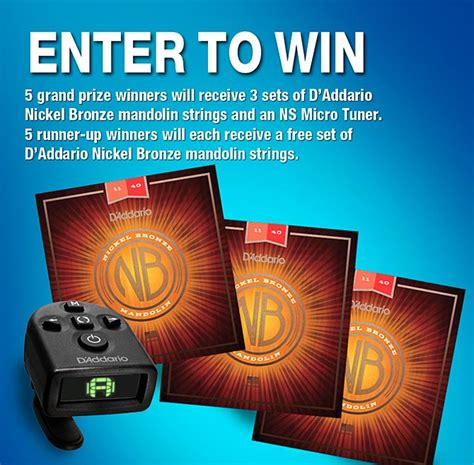 Mandolin Giveaway - article d addario nickel bronze mandolin strings and ns micro tuner giveaway