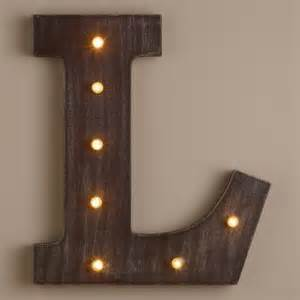 letter l led battery operated marquee light world market