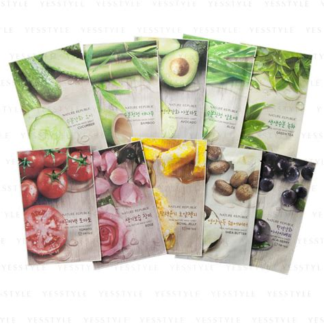 Masker Nature Republic nature republic real nature 10 variety mask yesstyle