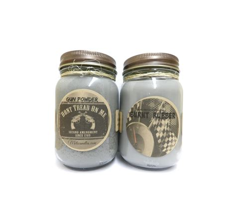 burnt rubber smell in house burnt rubber gun powder set of two 16oz country jar handmade