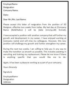 1 week notice resignation letter sle new opportunity two weeks notice letter template comp