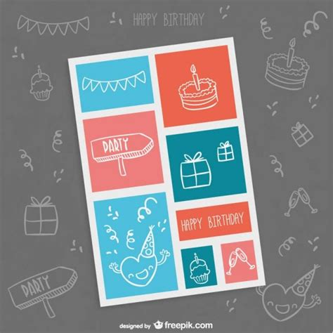 happy birthday minimal design minimalist birthday card vector free download