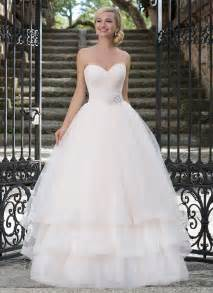 Neckline pastel ball gown wedding dresses 3 tiered bridal gowns
