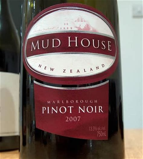 Happy Hour Kono Marlborough Pinot Noir by Mud House Pinot Noir 2007 Marlborough New Zealand The