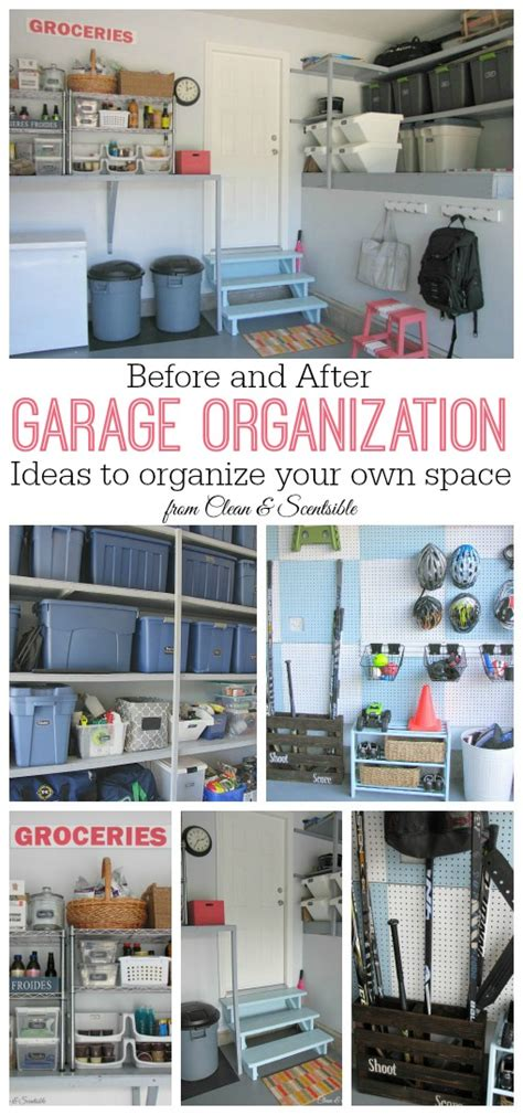 how do i organize my garage garage organization makeover clean and scentsible