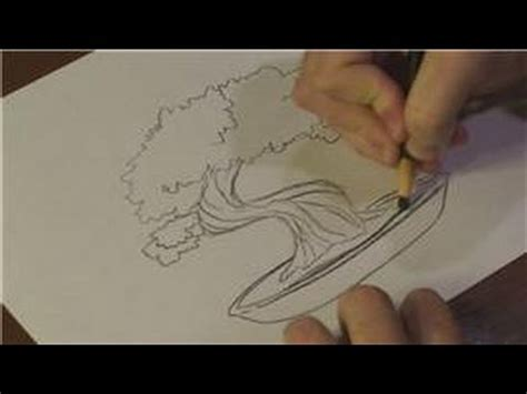 nature drawings how to draw a bonsai tree youtube