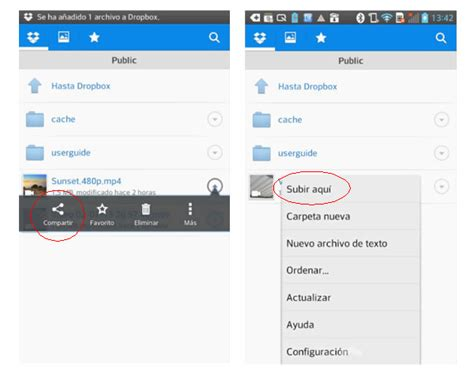 theme line link dropbox c 243 mo compartir archivos fotos o videos de android en dropbox