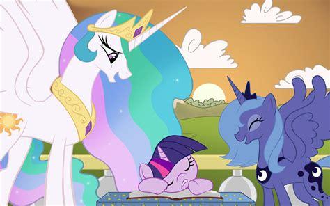 mlp princess celestia princess celestia and twilight sparkle wallpaper