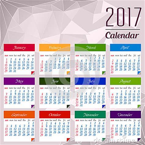 calendar design elements calendar for 2017 object for design element stock vector