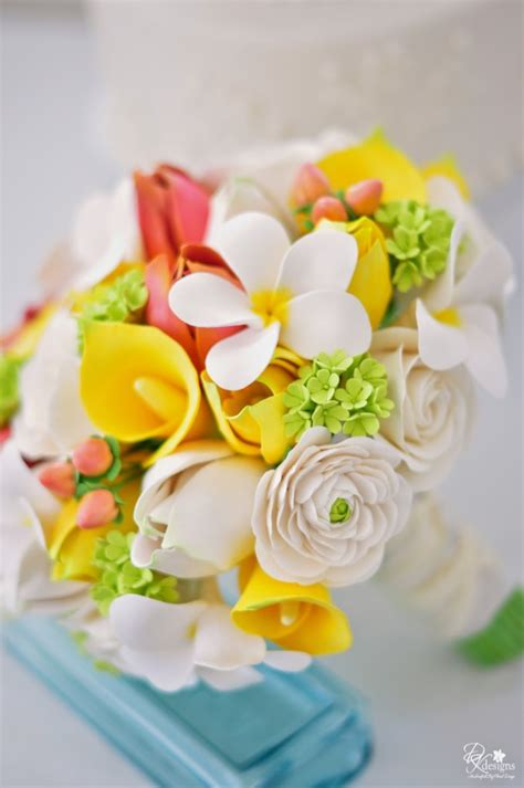 Wedding Bouquet Yellow Green by Ivory Yellow And Green Wedding Bouquet Dk Designs