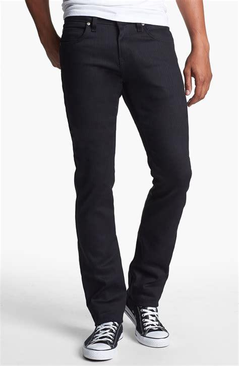 skinny jeans black mens naked famous skinny guy skinny fit jeans in black for