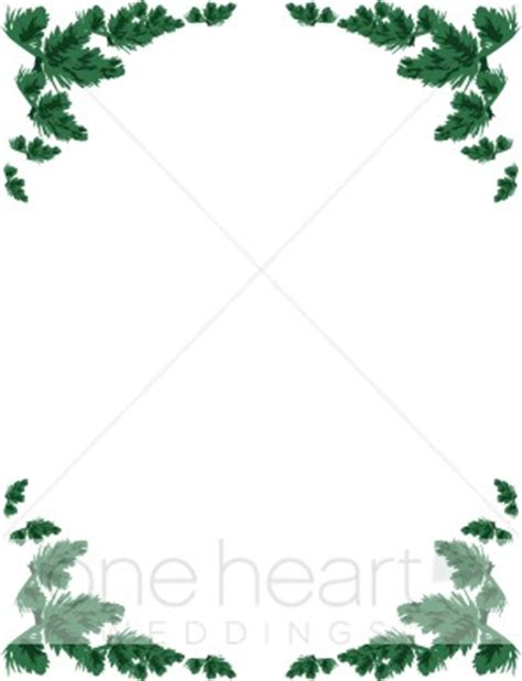 Card Frames Templates Pine Boughs by Evergreen Border Wedding Borders