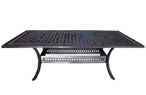 cast aluminum patio furniture dining tables