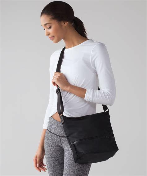lululemon go lightly shoulder bag lululemon go lightly shoulder bag black lulu fanatics