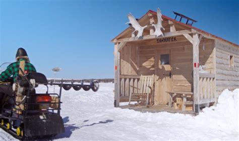 angling  warmth  winter  ice fishing hut designs urbanist