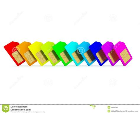 colored card stock colored sim card stock photography image 13068582