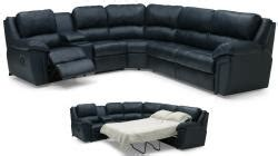 seat  shaped black leather sofa  pull  bed
