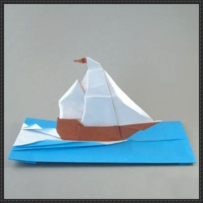 Origami Waves - papercraftsquare new paper craft origami sailing