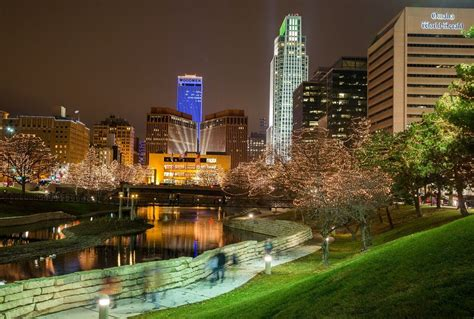 omaha christmas lights downtown after delay holiday lights festival ceremony gets