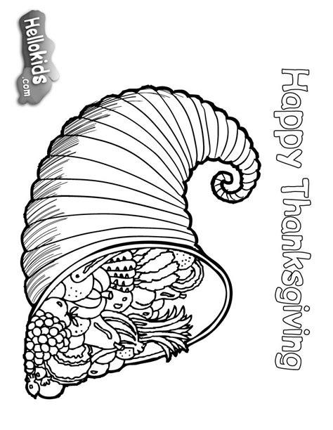 Desenhos para colorir de desenho de uma cornucópia, o