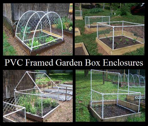 pvc framed garden box enclosures  prepared page