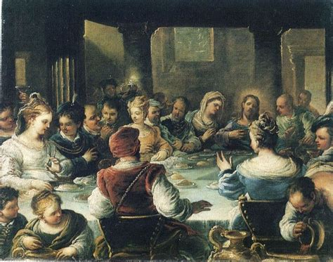 Hieronymus Bosch Wedding At Cana by Luca Giordano 1632 1705 Nozze Di Cana Galleria Nazionale