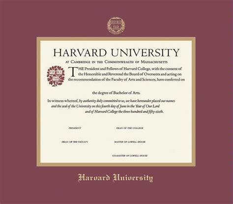 Harvard Mba Degree by Harvard Certificate Images