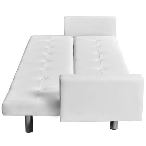 artificial leather sofa artificial leather sofa bed with armrests white vidaxl