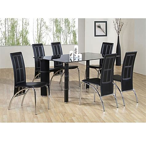 Glass Dining Table Sets Uk Cheap Heartlands Worcester Glass Dining Table Set 6 Chairs For Sale