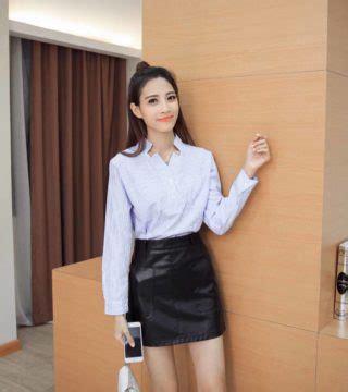 Mini Dress Kemeja Kerja Garis Lengan Panjang Baju Wanita Korea Import baju atasan garis garis lengan panjang model terbaru