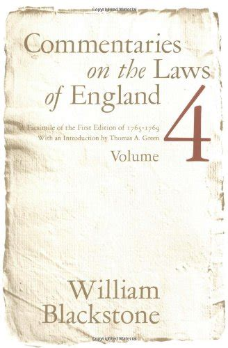 commentaries on the laws of england in four books vol 2 william e blackstone author profile news books and