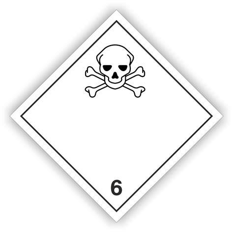 Aufkleber Rollenware by Gefahrgutaufkleber Klasse 6 1 Ohne Text