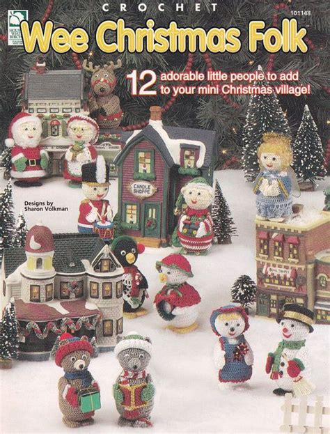pattern for christmas village christmas ornament crochet patterns christmas village
