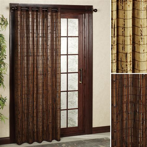 Superb Sliding Panels For Patio Doors 3 Patio Door Bamboo Grommet Drapes For Sliding Glass Doors