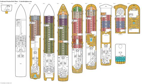 deck plans seabourn ovation deck plans diagrams pictures