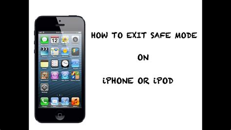how to exit safe mode on iphone ipod easy way