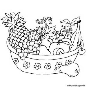 coloriage legumes fruits dessin
