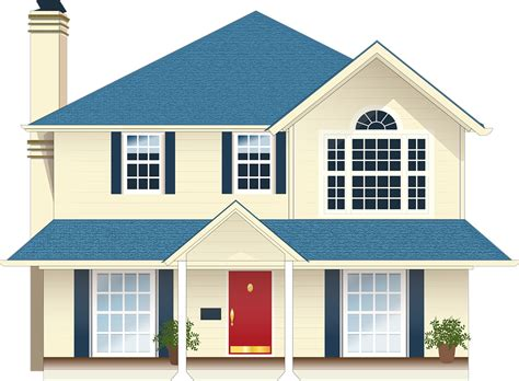 free vector graphic house residence blue free image