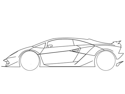 Lamborghini Sesto Elemento Drawing How To Draw A Car Side Pictures 4 Brown Hairs