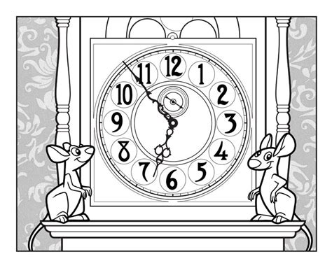printable grandfather clock free coloring pages of benjamin banneker