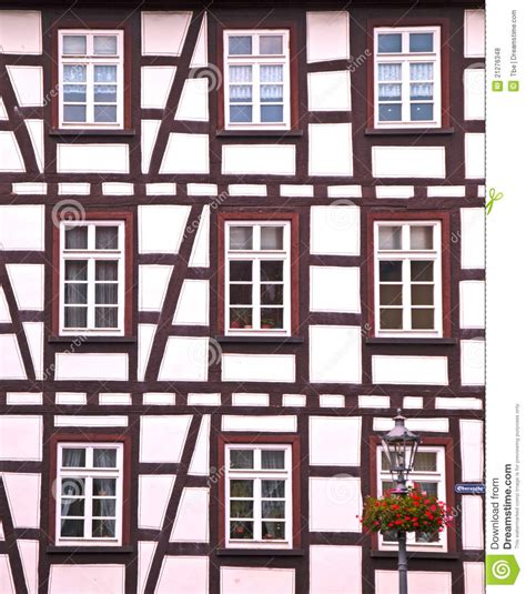 half timbered house plans half timbered house royalty free stock photos image 21276348